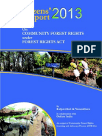 Citizen Report 2013 on CFR Under FRA