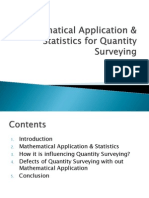 Mathematical Application & Statistics for Quantity Surveying