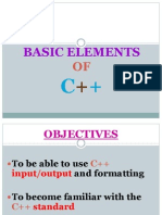 Lec03_Basic Elements C++