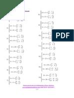 Ejercicios propuestos de Sistemas de ecuaciones de matrices.