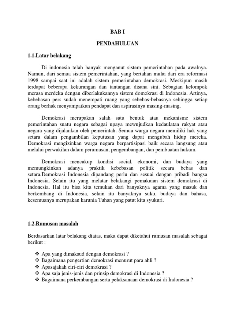 Makalah Pkn Tentang Demokrasi Indonesia