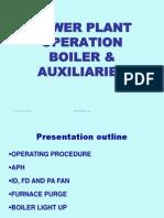 Boiler & Aux Operation
