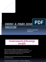 Energy & Power Resources of Pakistan