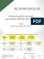 Komunikacijski Postupci Upotrebom MF i HF DSC Sustava