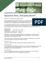 Application Kata Fahrplanauskunft