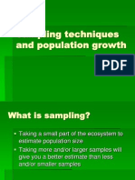 Sampling Techniques and Population Growth