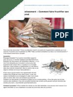 19.01.13 - Les 3 options d'investissement – Comment faire fructifier son argent en 2013