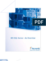 MS SQL Server - An Overview