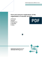 Cost and outcome implications of the organisation of vascular services