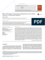 Effect of the Degree of Unsaturation of Biodiesel Fuels on the Exhaust