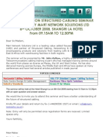 Next Generation Structured Cabling Seminar