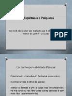 Leis Espirituais e Psíquicas - Reponsabilidade Pessoal