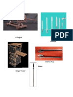 Defence and Attack Weapons