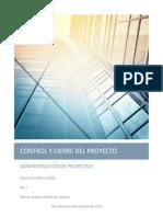 Control y Cierre de Proyectos