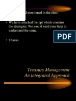 Treasury Management-An Integrated Approach