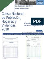 Censo 2010. Total Argentina. Resultados Provisionales