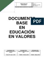 DIR. EDUC. EDUCACIÓN EN VALORES