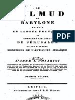 Chiarini Luigi Aloisi - Le Talmud de Babylone Volume I