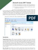 A Quick Microsoft Access 2007 Tutorial