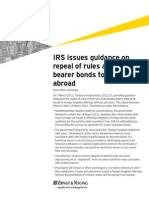 IRS Issues Guidance on Repeal of Rules $FILE International Tax Alert14March2012