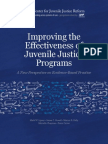 Improving the Practices of Juvenile Justice Program