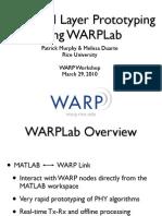WARP WorkshopSlides 1 WARPLab
