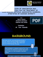 A COMPARISON OF VANCOMYCIN AND METRONIDAZOLE FOR THE TREATMENT OF CLOSTRIDIUM DIFFICILE-ASSOCIATED DIARRHEA, STRATIFIED BY DISEASE SEVERITY.pptx