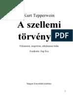 Tepperwein-A szellemi törvények