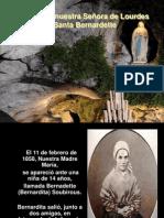 La Virgen de Lourdes y Santa Bernardette