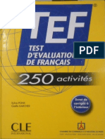 Tef Test D Evaluation De Francais 250 Activites 2007