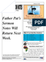 St. Augustine Catholic Church Sunday Bulletin, February 16, 2014