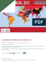 2013 Informe Anual mundial de libertad de prensa