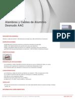 Alambres y Cables de Aluminio Desnudo AAC