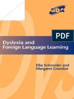 Dyslexia and Foreign Language Learning-David Fulton Publishers (2004)