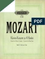 Mozart Concerto 23 K488 Piano 4 Hands