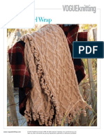 Vkw08 Cabled Twirl Wrap