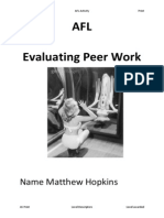 MEDIA Peer Work Afl Cwork Yr12 2014 Activity New
