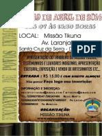 Convite Encontro de povos Indígenas 2014