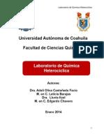 Cuadernillo de Practicas de Quimica Heterociclica 25 de Enero 2014