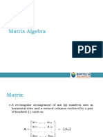 Matrix Algebra 2