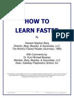How to Learn Faster - Howard Berg World s Fasterst Reader Guinness 1990