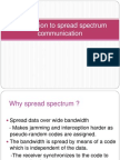 Introduction to Spread Spectrum Communication