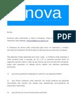 Referendum de ANova para as Européias 2014