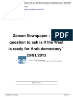 Is if the West is Ready for Arab Democracy
