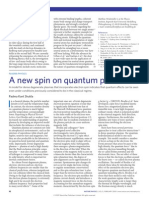 2009 - A New Spin on Quantum Plasmas Attosecond Plasma Optics