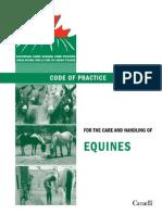 Equine Code of Practice