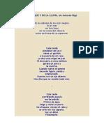 Poemas Del Bosque y de La Lluvia, De Antonio Rigo