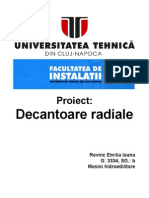 Decantoare Radiale