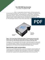 USB 2000 Spectrometer