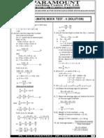 Ssc Mains (Maths) Mock Test-4 (Solution)